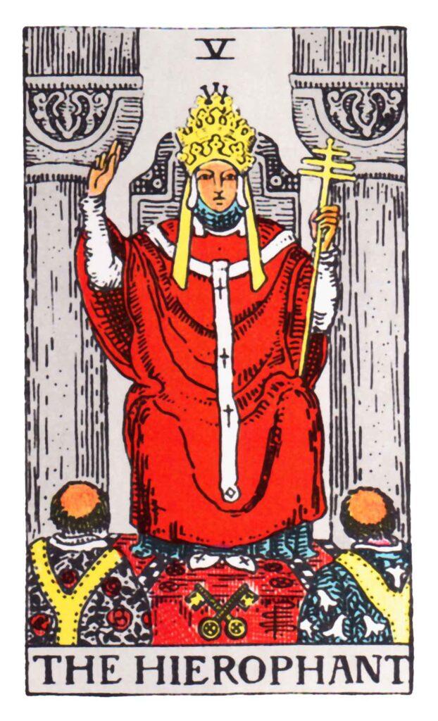 Karta Tarota - Arcykapłan