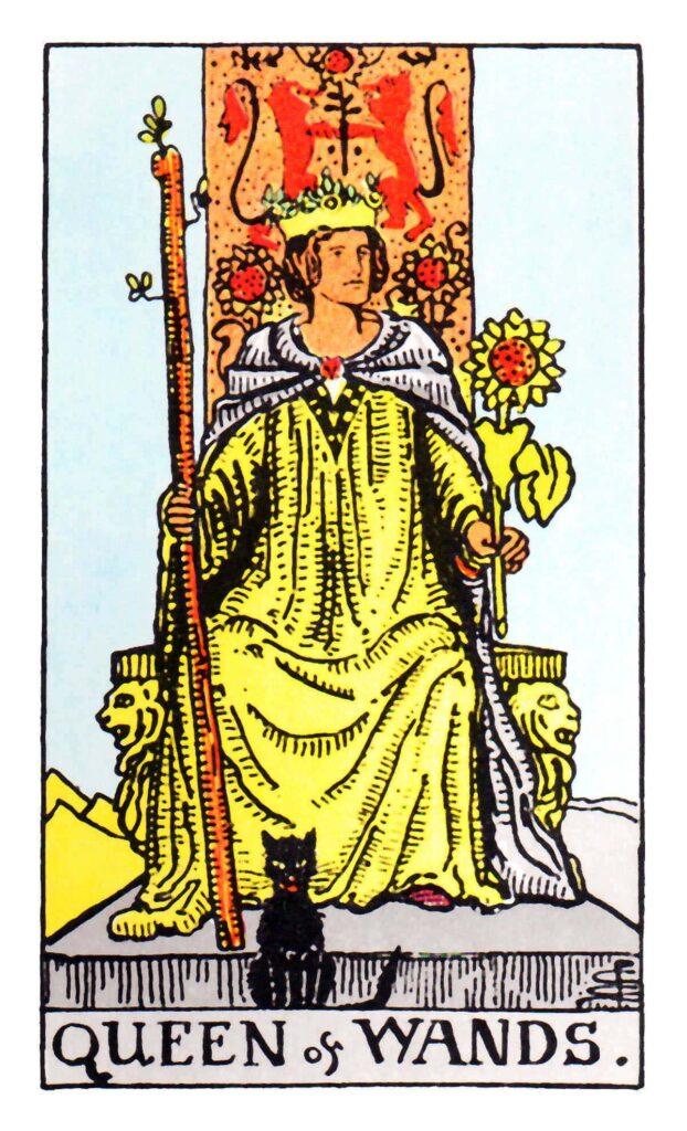 Królowa Buław Tarot